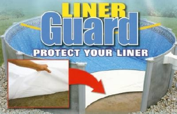 Liner Guard protects above ground pool liners from punctures.